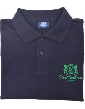 Polo Blue  (Green Logo)