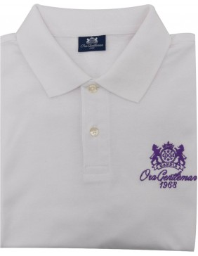 Polo White (Pink Logo)