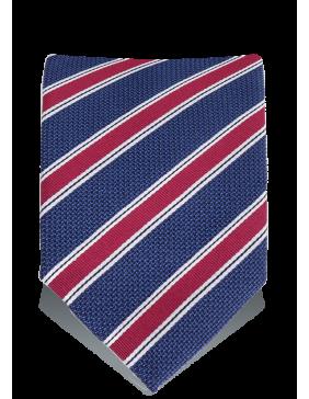 ΓΡΑΒΑΤΑ Woven Stripes Navy