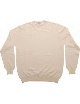 Crue Neck Cotton Cream