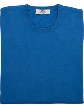 Crue Neck Cotton Royal Blue