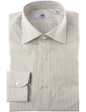 Πουκάμισο Sartorial Classic Stripes Marrone