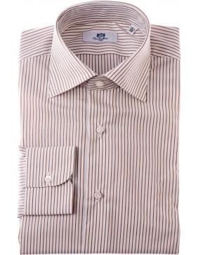 Πουκάμισο Sartorial  Classic  Stripes Marrone