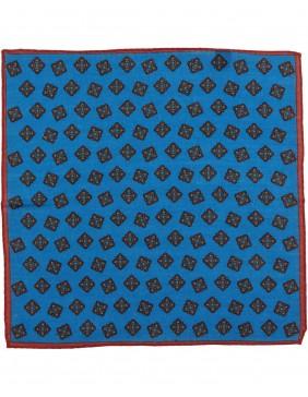 Μαντηλάκι Wool Rombo Royal Blue