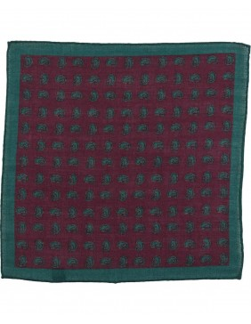 Μαντηλάκι Wool Paisley Bordeaux