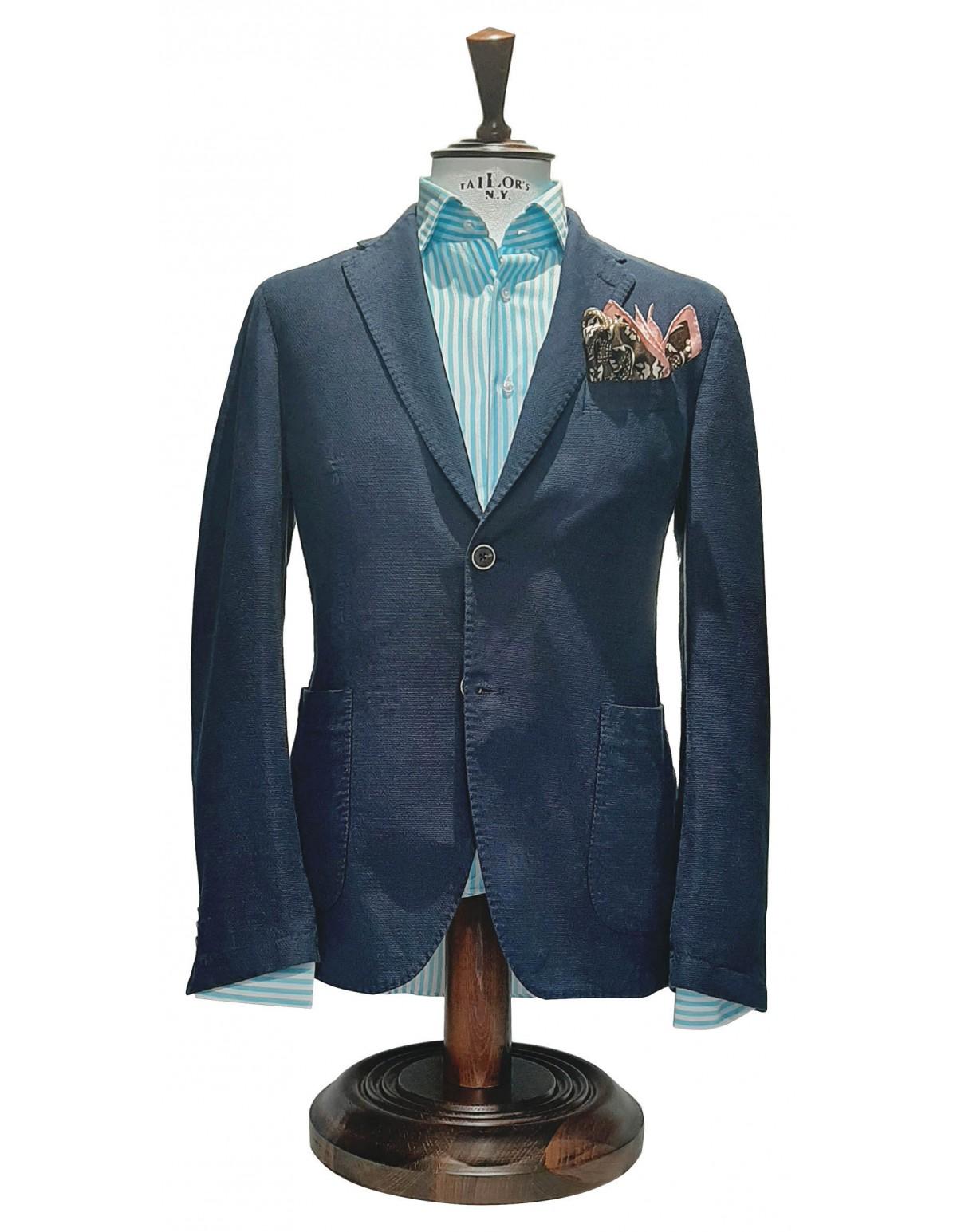 Σακάκι Cotton Navy Blue