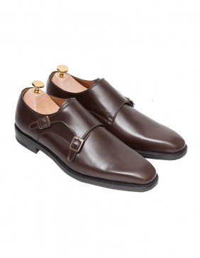 Παπούτσια Double Monk Straps Brown