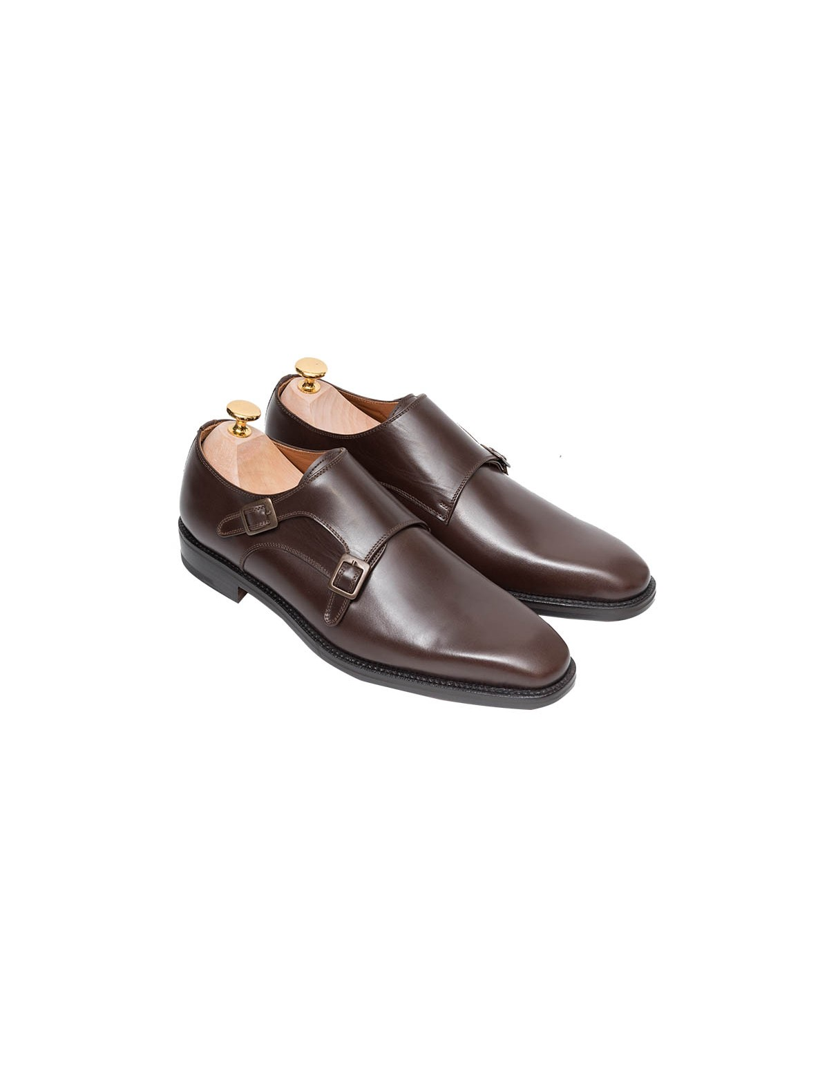 Παπούτσια Double Monks Straps Brown