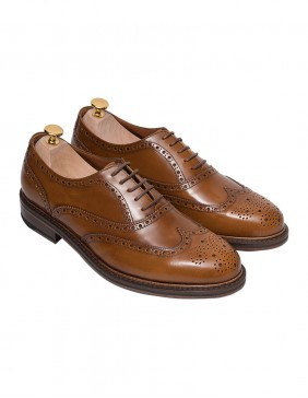 Παπούτσια Oxford Brogues Cogniac