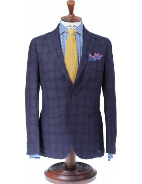 Σακάκι Sartorial Lino Cotton Blue