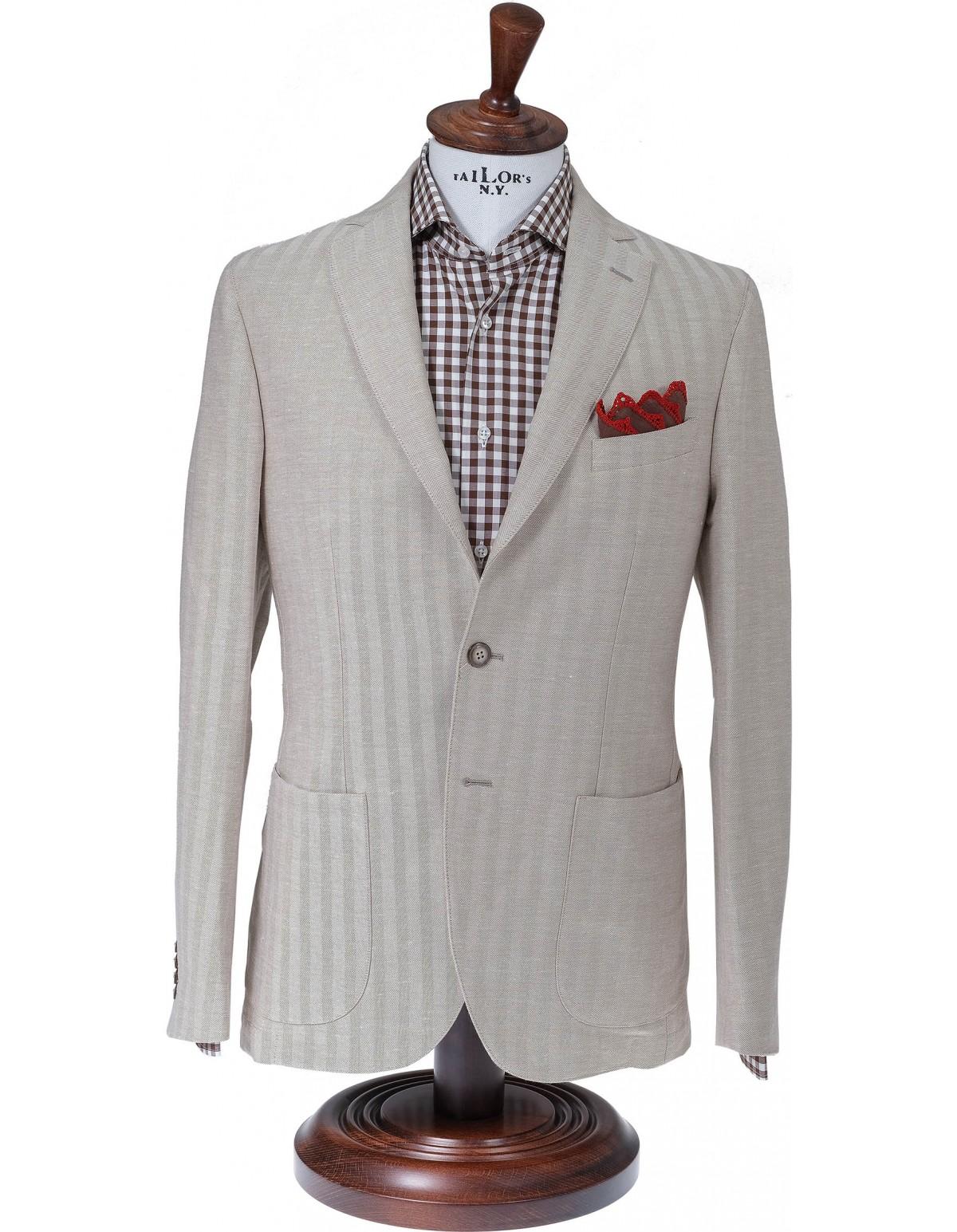 Σακάκι Sartorial Cotton Lino Crem