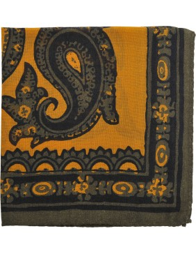 Mαντηλάκι Wool Paisley Giallo