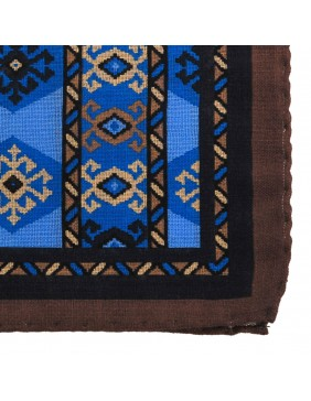 Mαντηλάκι Wool Cashmere Mexico Brown