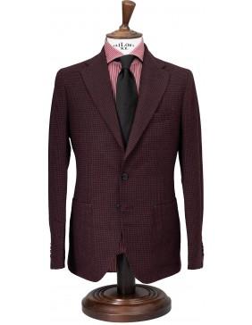 Σακάκι Sartorial Wool Chess Burgundy